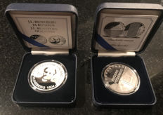 "Finland - 10 Euro 2004 ""Runeberg"" and 2003 ""Chydenius"" in a box-set (2 coins) - silver"