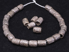 26 Antique Prakeuam silver beads