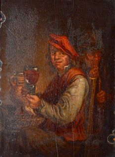 After David Teniers the Younger (18th century) - The Merry Drinker