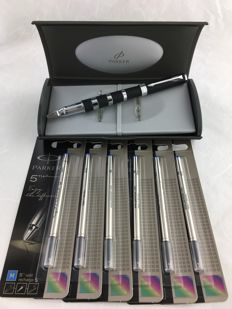 Parker Ingenuity/5th Black Chrome with 6 Refills