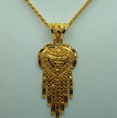 22 Ct Gold Chain & Pendant ,  New(Unused)