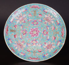 Famille rose porcelain plate - China - late 19th century