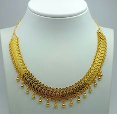 22 Ct Gold Necklace With Coins , New(Unused)
