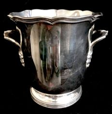 "A , vintage , high quality silver plated , french , important ice bucket , by "" ST MEDARD "" , Paris , France , three maker's marks of Saint Médard"