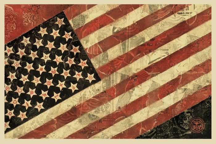 Shepard Fairey (OBEY) - Flag (signed) - 2011