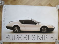 Renault Alpine V6 showroom poster