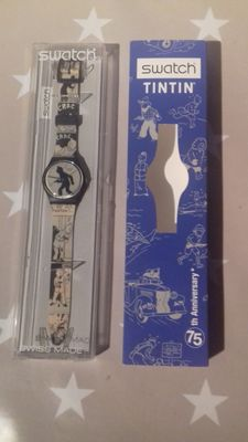 Hergé - Horloge Swatch GZ187 - 75th anniversary - (2004)