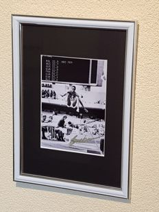 Bob Beamon - Olympics 1968 - Winner gold with worldfamous Legendary jump - hand signed framed foto + COA