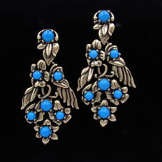 Oscar De La Renta - large dangle earrings
