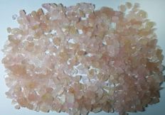 Large lot of rough morganite crystals - 2145.00cts