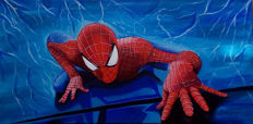 Brisan, Gabriel - Original Oil Painting on Canvas - Spider-man - 'Climbing' - (2017)