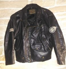 Redskins - Motorcycle leather jacket - made in UK - c.2000