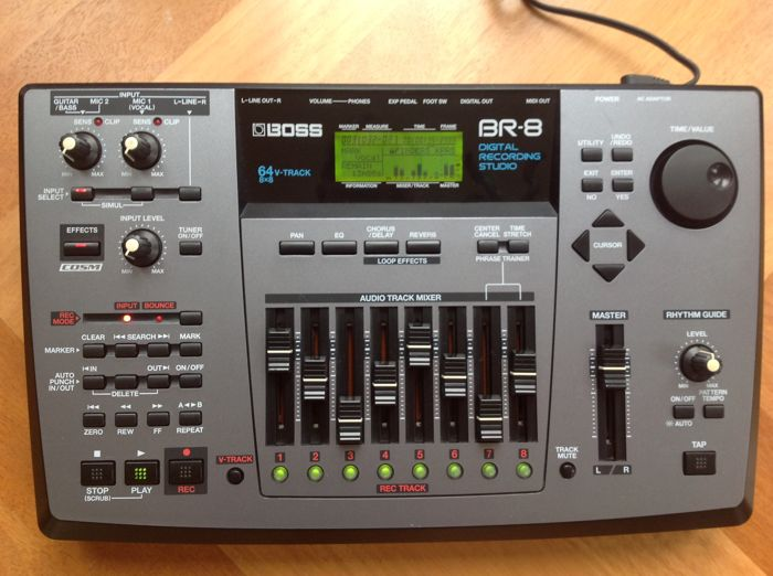 boss br 8 digital recording studio 8 track multitrack recorder with cosm effects catawiki. Black Bedroom Furniture Sets. Home Design Ideas