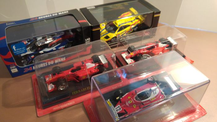 Ixo / Altaya - Scale 1/43 - Lot with 5 models: McLaren, Ferrari & Peugeot