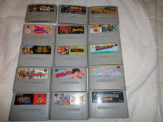 lot of 15 famicom games like Star Wars + Street Fighter and more