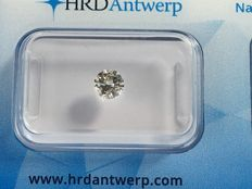 Brilliant cut diamond, 0.42 ct. RW G SI 2 with HRD certificate