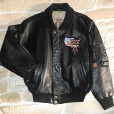 DAKOTA leather flying, pilot, leather  jacket