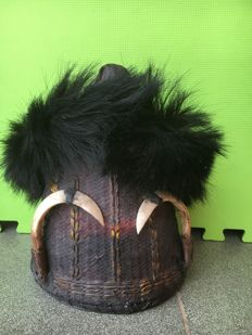 Tribal Headdress Konyak from Nagaland - Northeastern India - mid/2nd half 20th century