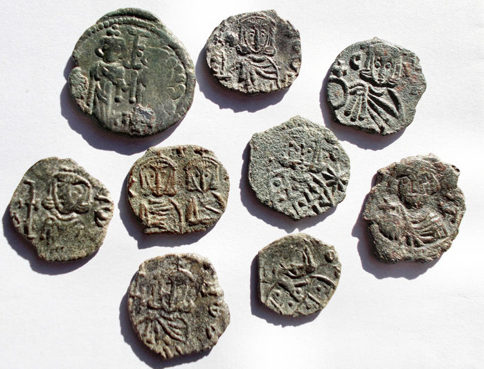 Byzantine Empire - Lot comprising 9 AE pieces