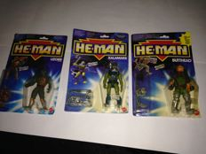 HE-MAN  masters of the universe vintage 3 pieces