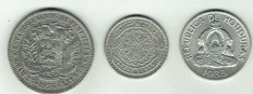 World - Lot of world coins (3 pieces) - silver