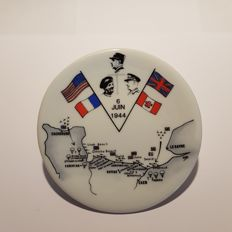 Limoges France - Plate commemorating the Normandy landing WW II