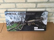Powerful pistol crossbow, complete with arrows