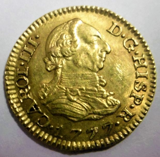 Spain - Gold coin - Half escudo Carol III (1777)