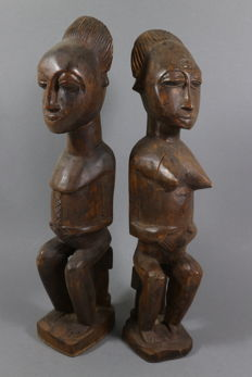 African Luba ancestral sculptures from Congo