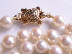 Akoya cultured pearl necklace 5.9 mm