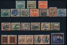 Saar Region - 1920 - batch of MNH stamps with complete landscape set, Michel 70-83
