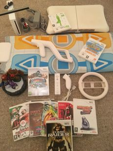 Nintendo Wii Console + Controller + Fit Board + Skylanders + Dance Mat + 9 Games + More