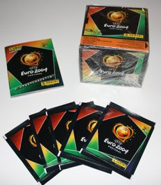 Panini - Euro 2004 Portugal - 1 sealed box with 50 packets + 5 extra packets unopened + 1 empty pocket album