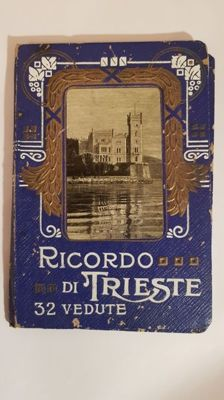 Interesting Art Nouveau booklet of Trieste with 32 antique postcards