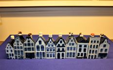 10 vintage KLM houses (Rynbende), from the sixties