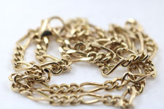 Necklace - Figaro necklace in yellow gold 333 - length 43 cm