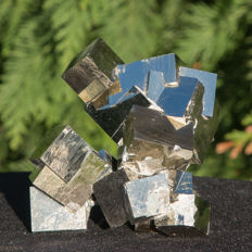 Top Twin Pyrite cubes - Very rare - 10 x 9.5 cm  463 grams