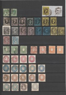Saxony 1851/1863 - beautiful collection, more than complete except for no. 1