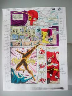 Glenn Whitmore - Original Colourisation (Colour Guide Art) - Flash special #1 - Page 49 - (1990)