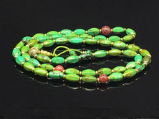 Tibetan old turquoise necklace - 12mm (bead)