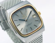 Omega Constellation Date Gold Bezel Sapphire Crystal Automatic Men's Wrist Watch - Reference ST 166.0249 - circa 1970s