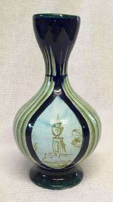 Italian Early Vincenzo Corrente (1887 - 1967) vase - signed.