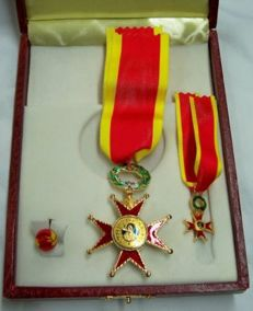 Set with box of the Equestrian Order of St. Gregory the Great