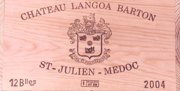 2004 Chateau Langoa Barton, St. Julien Grand Cru Classé - 12 bottles in OWC