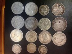 World - Lot various coins 1812/1967 (15 pieces) including silver