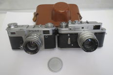"""Zorky-4"" with the lens ""Jupiter-8""+ ""Kiev-4А"" Тhe USSR 1956-1973."
