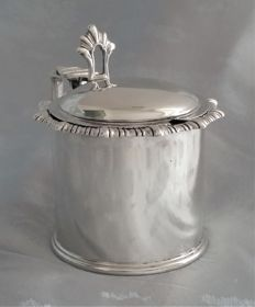 Sterling silver mustard pot, James Dixon and Sons, Sheffield 1905