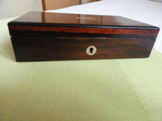 Box of compass in mahogany - gilded brass - France - end 19th century.