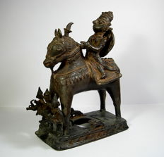 Rider and Horse - Bronze - India Rajasthan - 18th Century