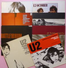 """Six early albums by U2 (including a double album) plus 2 x 12"""" EP's/Singles"""
